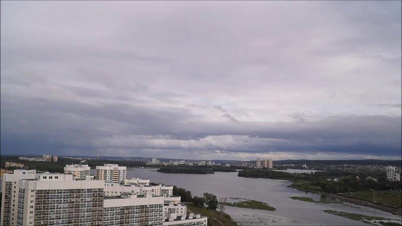 Плывущие облака... Химмаш, Нижнеисетский пруд, Уктус... Вид с Рощинской Екатеринбург