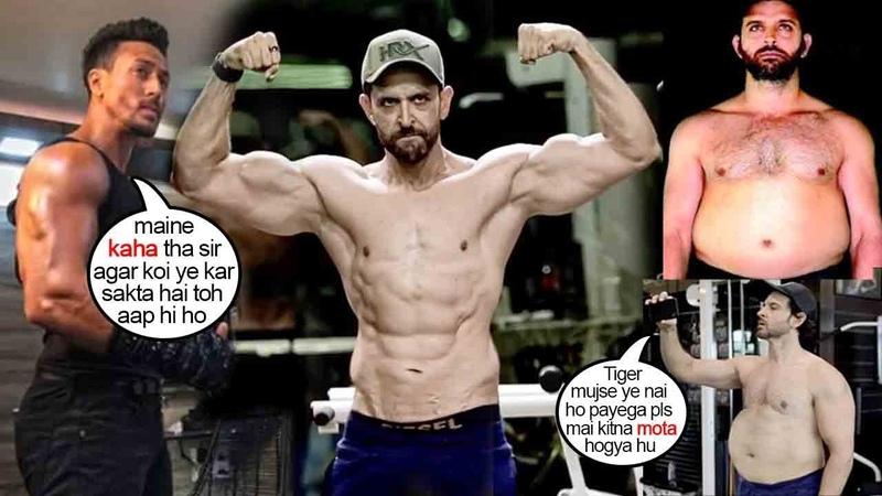 Hrithik's Unbelivble Gym Bodybuidling Workout Routine Tht CHANGED Look 4 WAR Movie Wid TIGER's Help