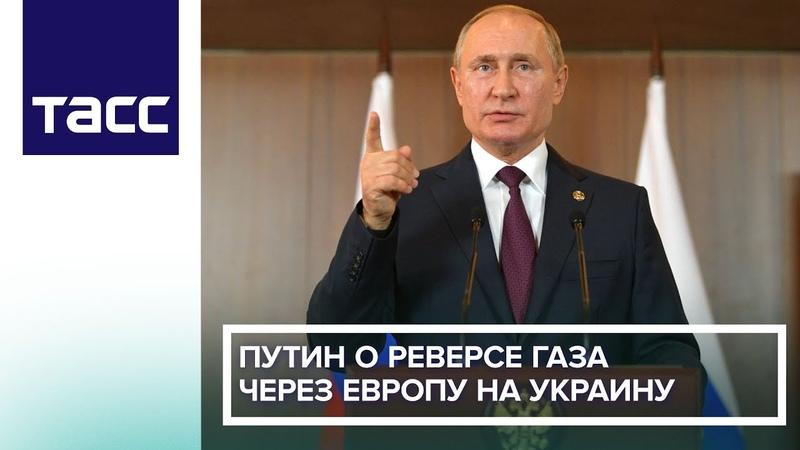 Путин о реверсе газа через Европу на Украину: это чушь, сапоги всмятку