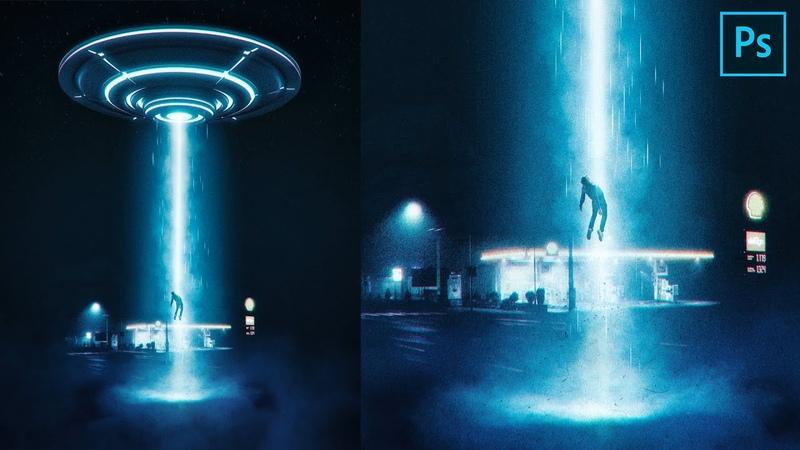 UFO Abduction Photo manipulation tutorial