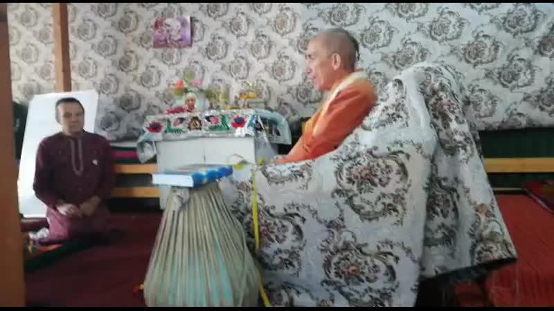 Е С Бхакти Ратнакар Амбариши Свами о Е М Ванинатхе Прабху Иссык куль Киргизстан 28 07 2019