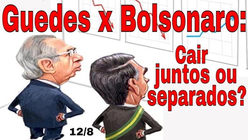 Bolsonaro x Guedes quem vence Pautas econômicas x planos políticos inconciliáveis!