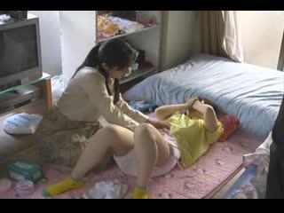 Diapered girl