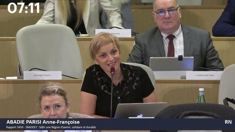 A.-F. Abadie-Parisi (RN) critique le SRADDET