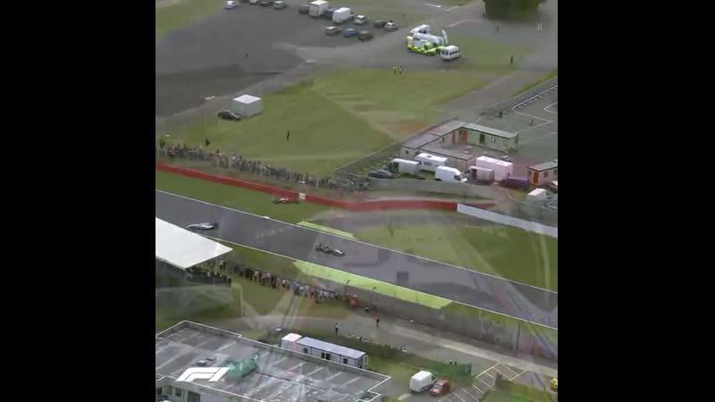 Silverstone 2014 Raikkonen's huge shunt