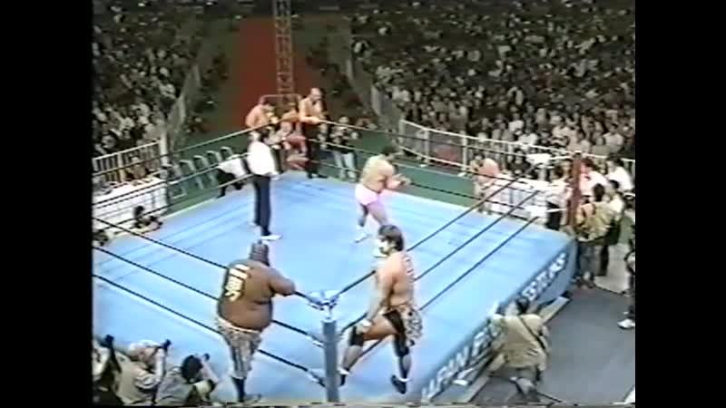 1999.05.02 - Haruka EigenGiant Kimala IIJun Izumida vs. Rusher KimuraMitsuo MomotaMasao Inoue