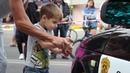 День города Россошь, Разукрасили смывающейся краской автомобили, waterpaint