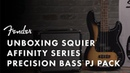 Unboxing The Squier Affinity PJ Bass Pack Fender