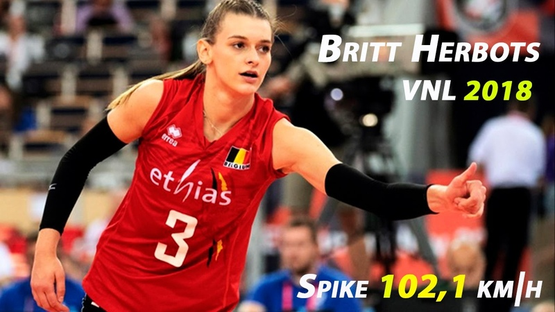 Britt Herbots Young and Talanted Best spikes VNL 2018