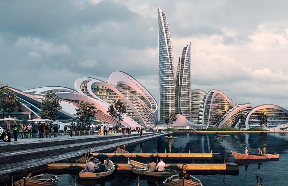 Рублево-Архангельское, архитектурно-градостроительная концепция, Москва, Россия.