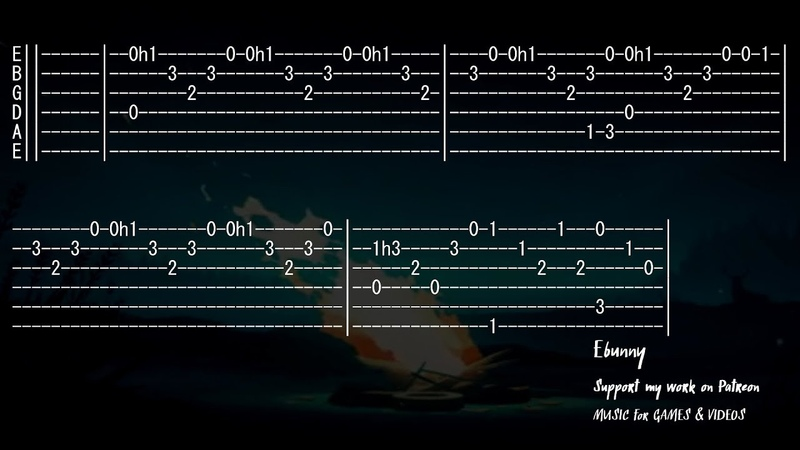 Celtic Music Last Dance Full Acoustic Guitar Tab by Ebunny Fingerstyle How to Play