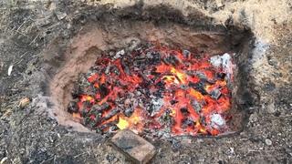 🍯 Обжиг керамики в ЯМЕ! Ямный обжиг дровами с восстановлением Гончарная школа Волшебство керамики