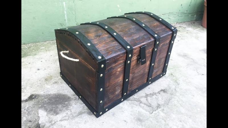 COFRE PIRATA C/MADERA DePALLET (pírate chest)