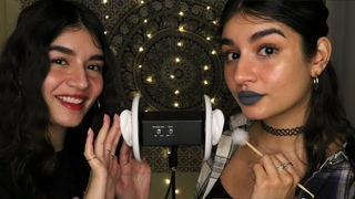 ASMR Twin Sister Ear Cleaning For Sleep ~VERY TINGLY~