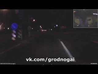 Преследование и задержание пьяного водителя в Гродно