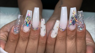 Watch Me Do Nails | Acrylic Nails Tutorial | Long Coffin Nails