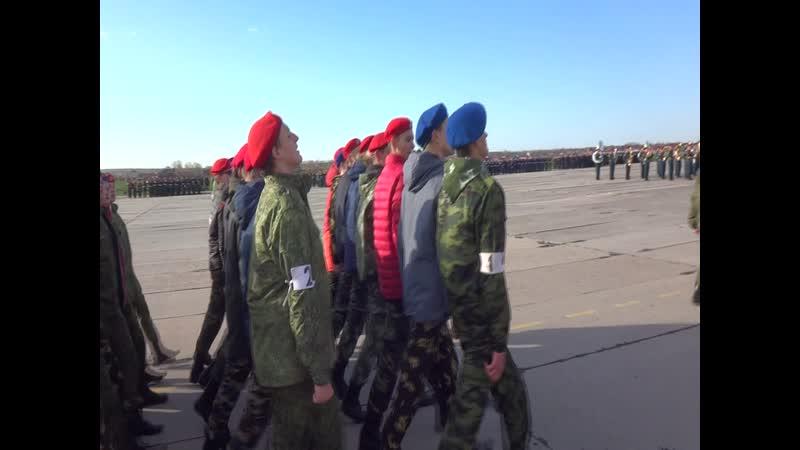 18 04 19 юнармия ростов сводная ротта подготовка к параду попеды