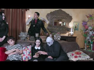 Kate bloom and audrey noir addams family orgy