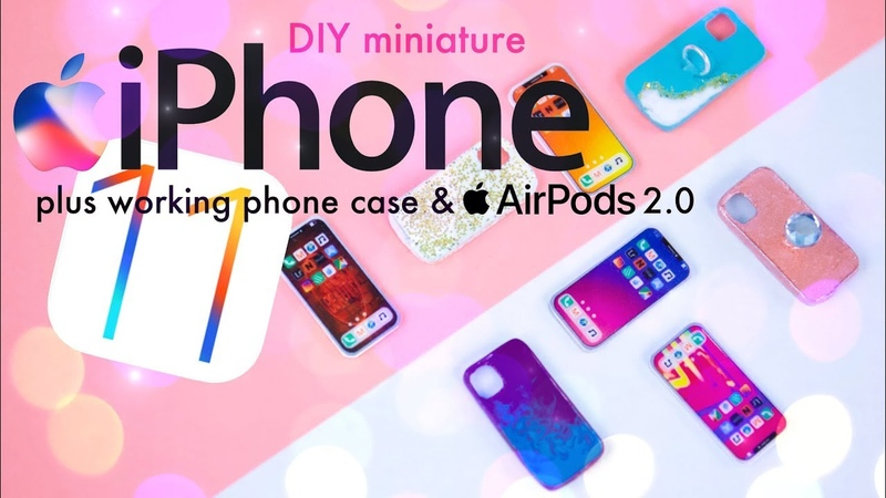 DIY How to Make Miniature iPhone 11 Pro Max PLUS Air Pods 2 0 Real Phone Case
