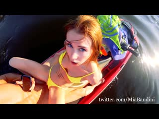 Mia bandini-public anal walk on a hydrocycle in the city center 2.