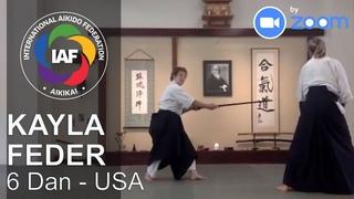 Kayla Feder Sensei 6 Dan Zoom Aikido Class (USA) - IAF campaign