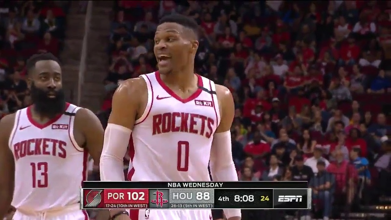 Westbrook to Lillard A foul is a bucket . Cant guard me. Impossible.