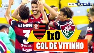 Flamengo 1x0 Fluminense - Gol de Vitinho com Narração Portuguesa | Final Campeonato Carioca 2020