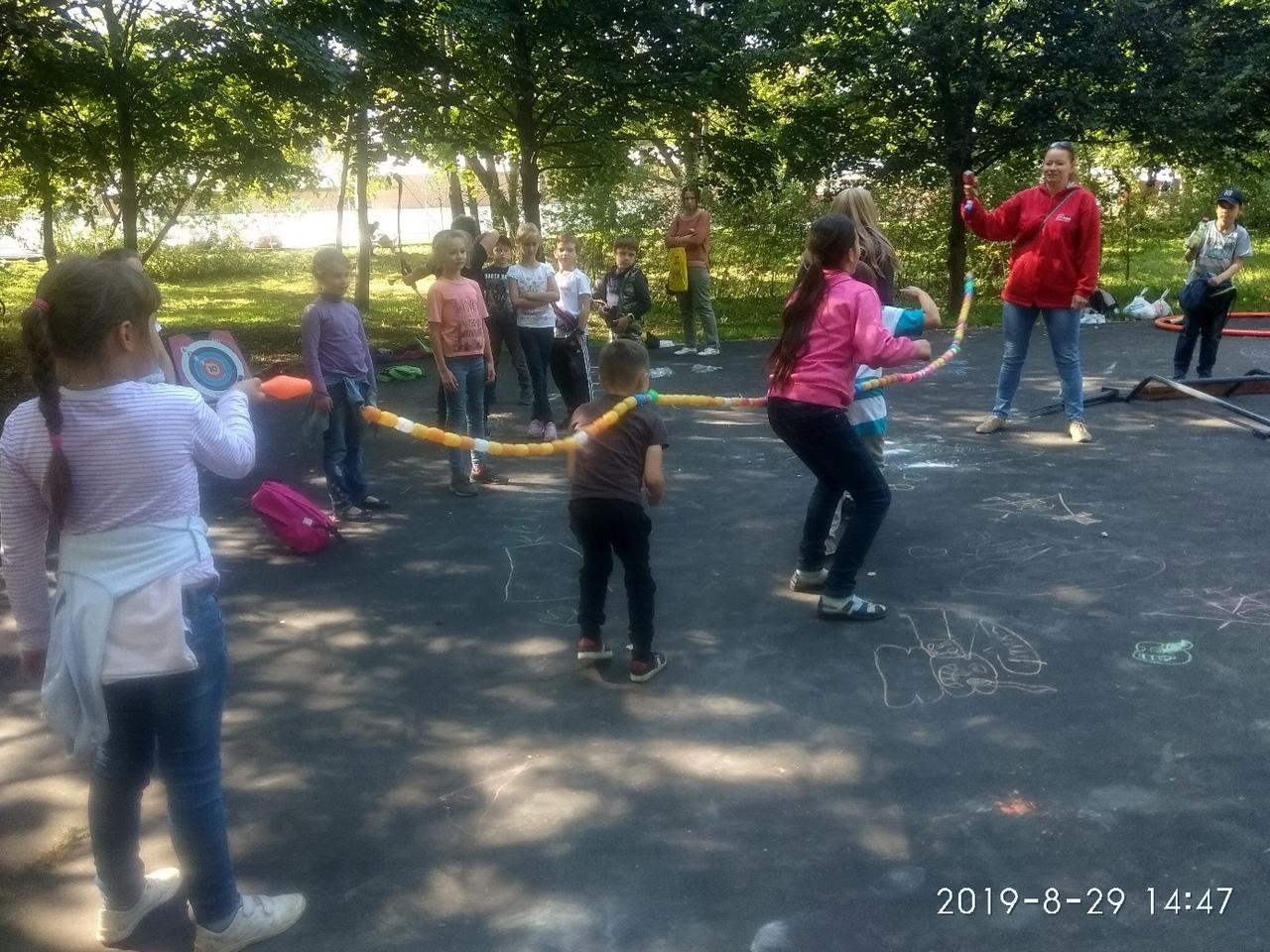 мероприяие в Ивановском парке - игры для детей
