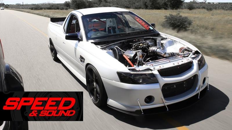 CRAZY Lumina UTE with a NASCAR engine