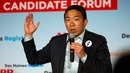 Full video Andrew Yang speaks at the AARP Des Moines Register forums 14 17