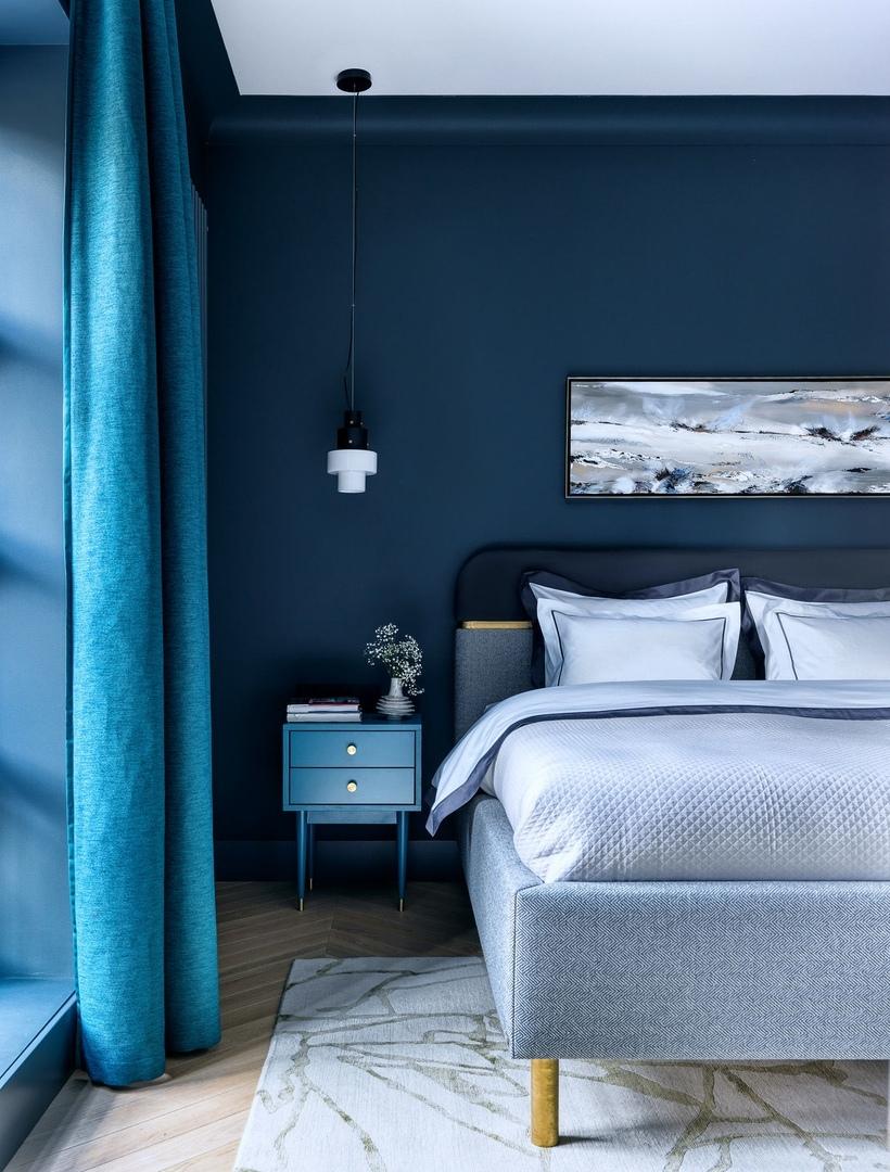 Глубокие цвета в квартире от студии Atelier Interior    02