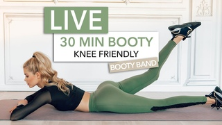 30 MIN BOOTY WORKOUT / Knee Friendly Edition - Let's Train Together I Pamela Reif