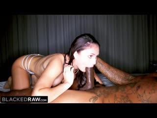 Kinky brunette wife loves black cock in her hotel room