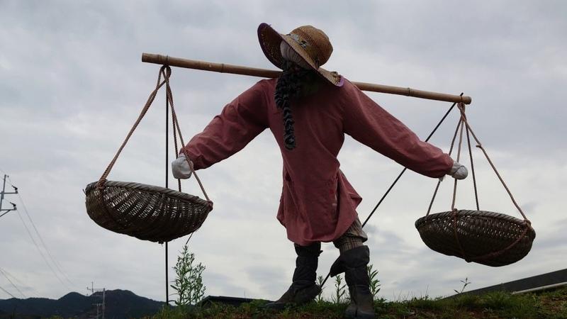 大規模なかかしまつり  上久原ふるさとかかし祭り2019 福岡県久山町 2019 11