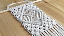 DIY Easy Macramé Diamond Pattern Wall Hanging Tutorial