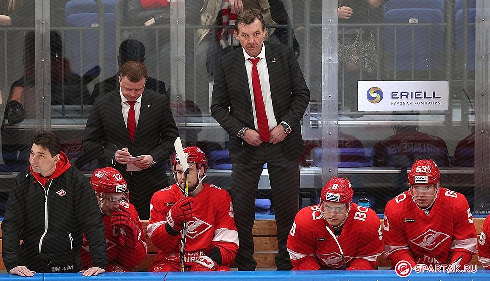 Олег Знарок: В начале третьего периода удалось забить и начали играть в спартаковский хоккей