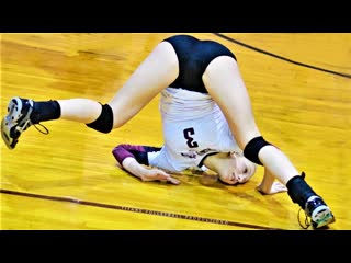 Top 20 unbelievable volleyball somersault through the head digs saves womens volleyball