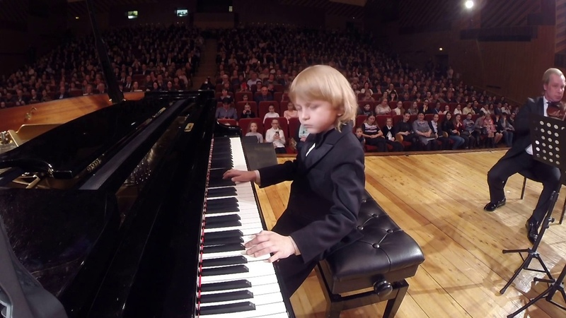 The youngest composer is the best pianist of our time Mysin Elisey. Mozart 21st Century