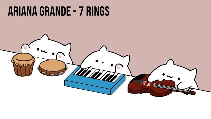 Bongo Cat - Ariana Grande 7 rings (Cat Cover)