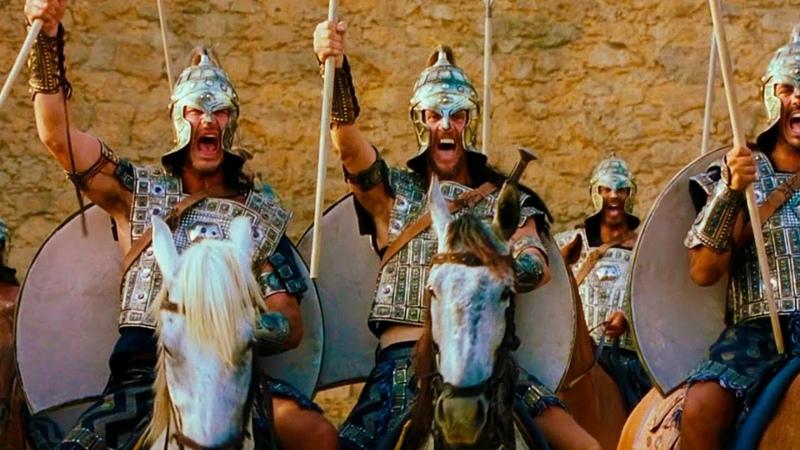 Воодушевляющая Речь Гектора Троянцы Готовятся к Войне с Греками Троя 2004 Момент из Фильма