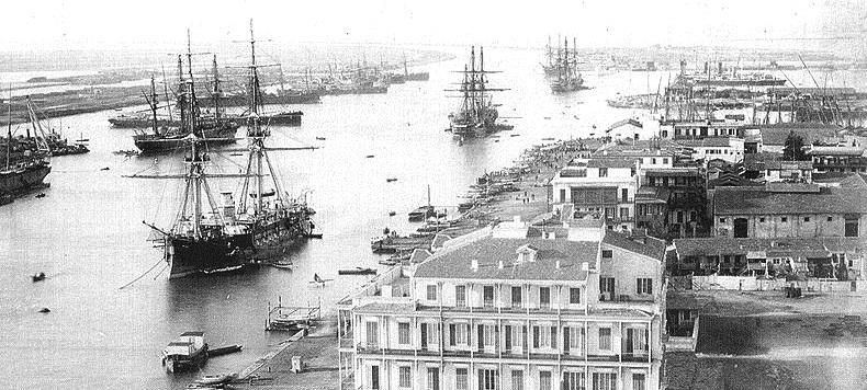 Порт-Саид на Суэцком канале в 19 веке