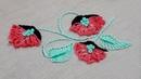 Modified Buttonhole stitch flower design button hole stitch flower embroidery Hand embroidery