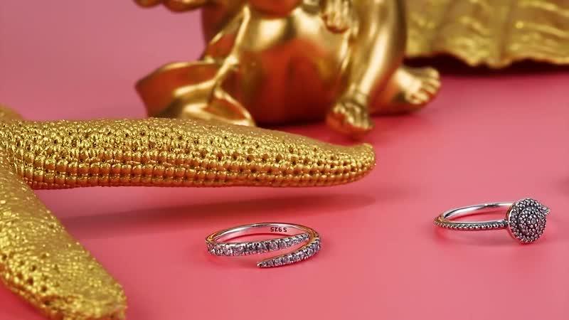 Рубиновое кольцо одноцветное стерлингового серебра 925