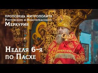 Неделя 6-я по Пасхе - проповедь митрополита Меркурия 02/06/19