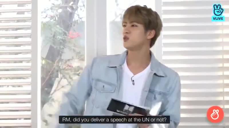 Seokjin hypes him up when he was unsure