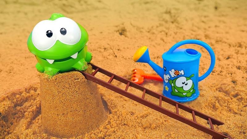 Строим замок из песка Ам ням и Игры с песком для детей Новые приключения Ам Няма
