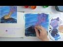 ВИДЕО УРОК/TUTORIAL Рисуем извержение вулкана гуашью! Dari_Art