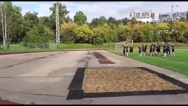 Фанаты ЦСКА посетили тренировку клуба перед дерби