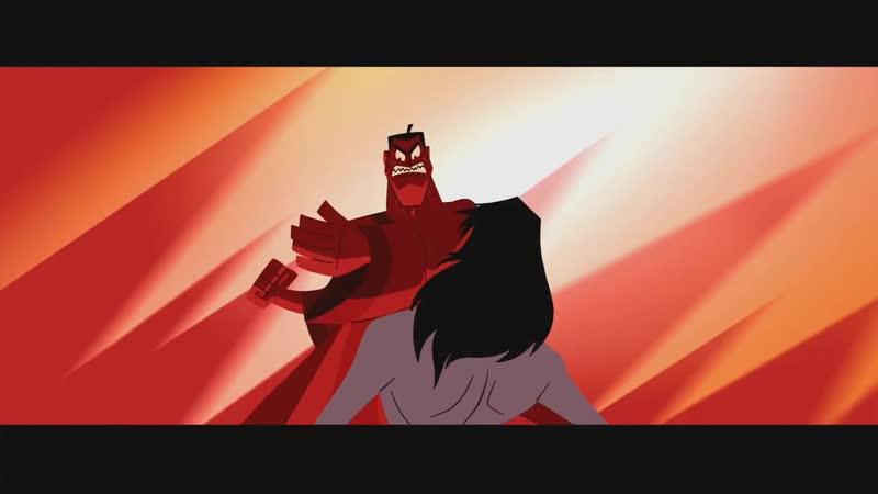 моя любимая сцена из пятого сезона самурая джека (русская озвучка)