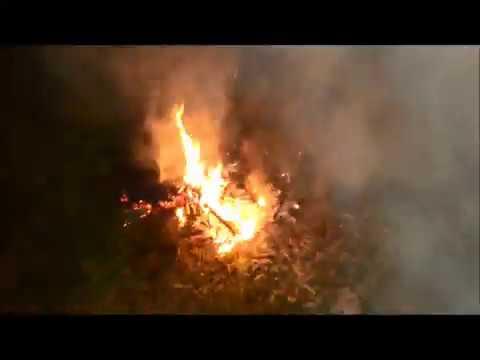 Костер дымовуха Горящий огонь